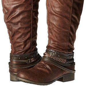 New Women's Marvel Harness Brown Distressed Boot